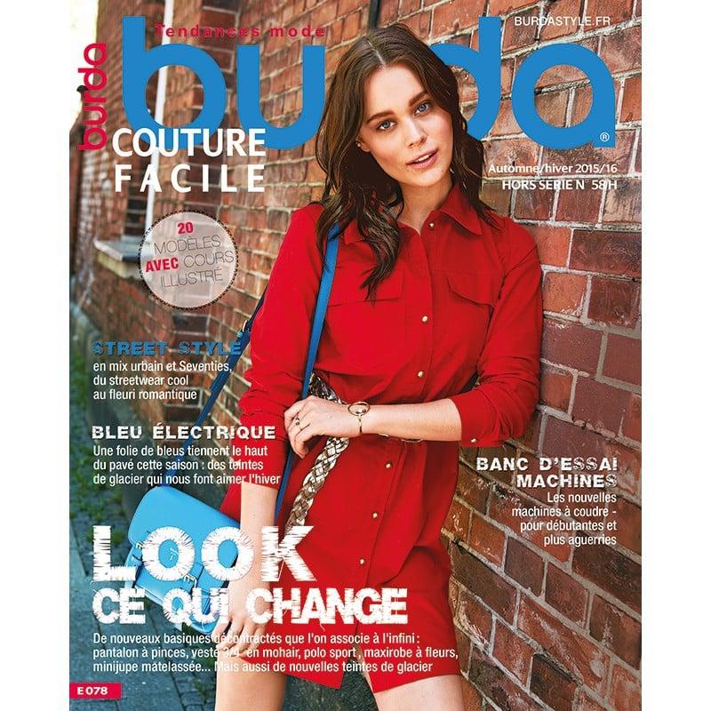 nom d'une couture magazine burda automne hiver 2015 2016 chemise rouge flamand bleu
