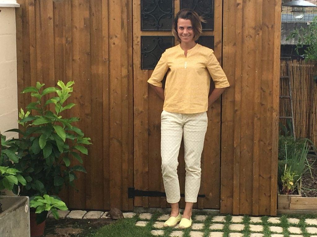 nom d'une couture chemise jaune burda couture facile automne hiver 2015 2016