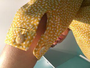 nom d'une couture chemise jaune burda couture facile automne hiver 2015 2016 fente manche