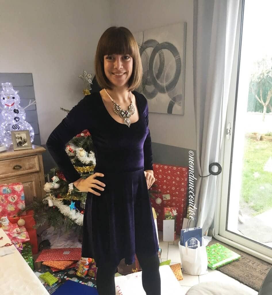 Nom d'une couture ! Ma robe plantainphyr en velours violet