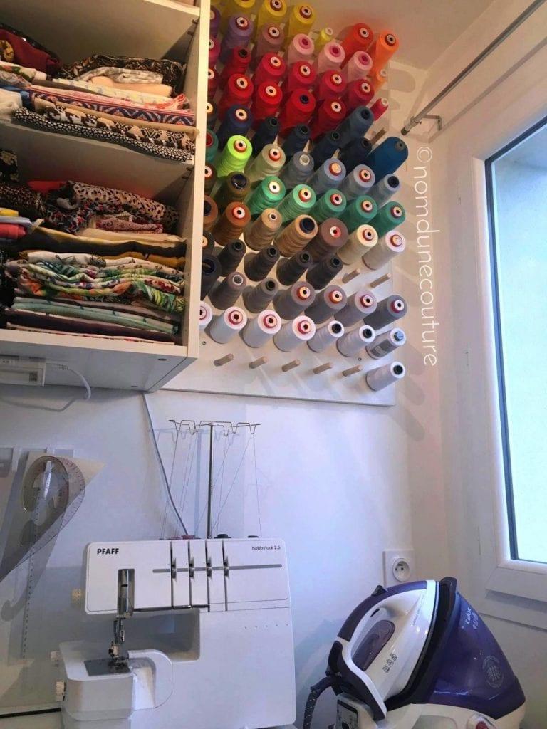 Tuto - Comment fabriquer un porte-bobines (cônes) mural ?