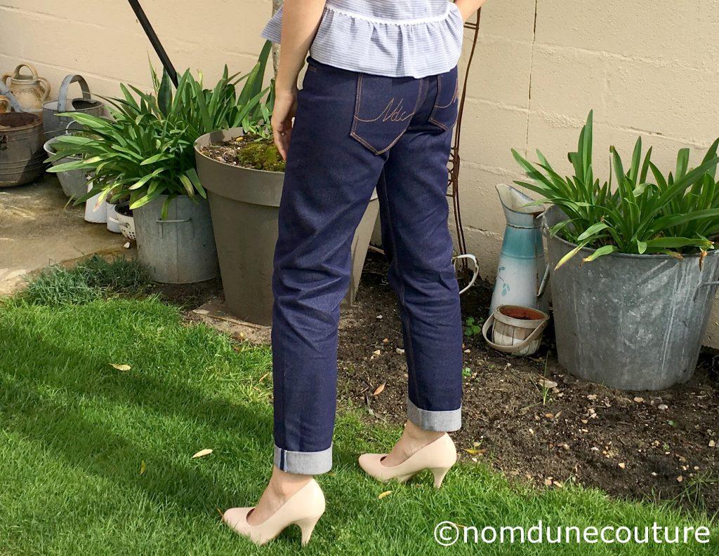 poches plaquées jeans