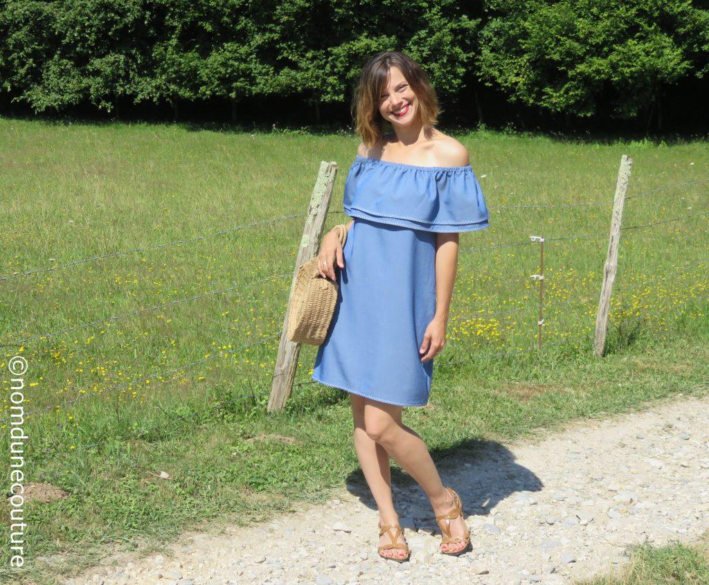 coudre une robe pour l'été avec volant