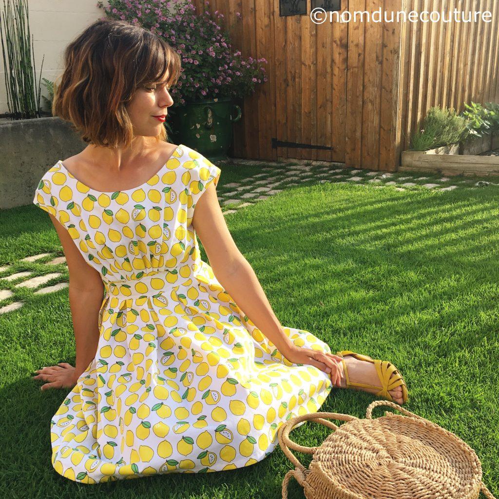 robe andria anne kerdilès avec tissu citrons