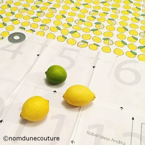 tissu citron