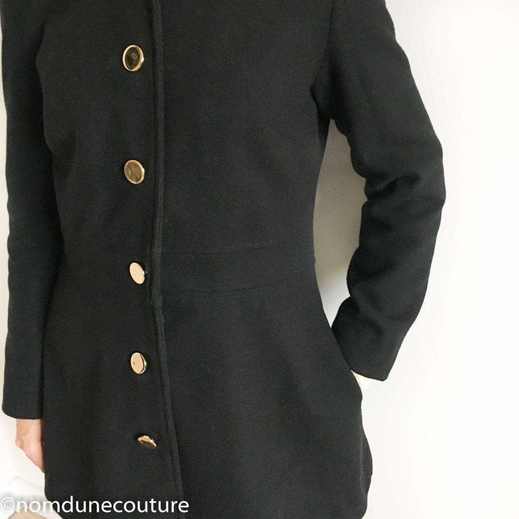 drap de laine noir Mouna sew