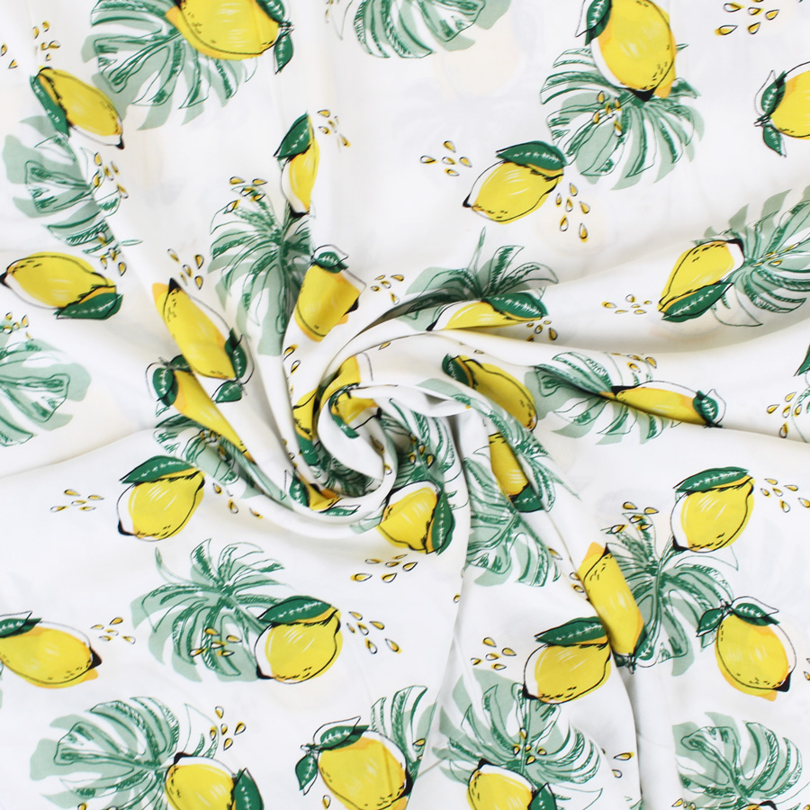 tissu viscose citrons