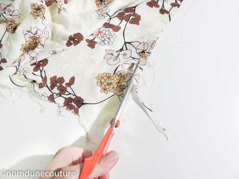recoupez la marge de couture à 5 mm