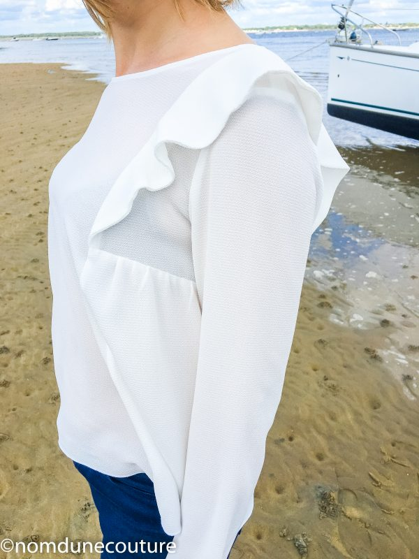 kit couture avec crêpe blanc et patron de la blouse aurore
