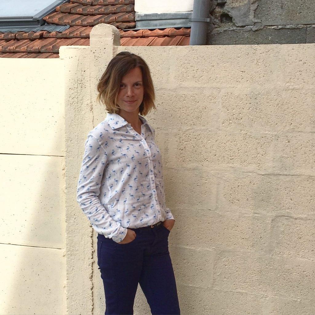 nom d'une couture chemise flamants bleus voile de viscose mondial tissus burda couture facile automne hiver 2015 2016