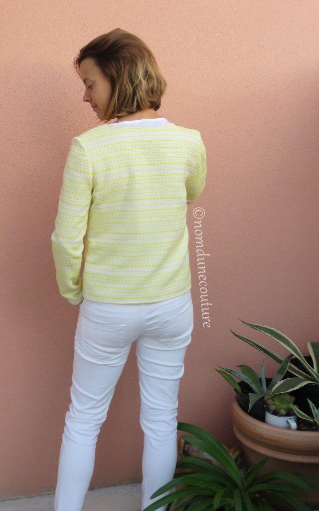 Nom d'une couture ! gilet veste monceau jaune