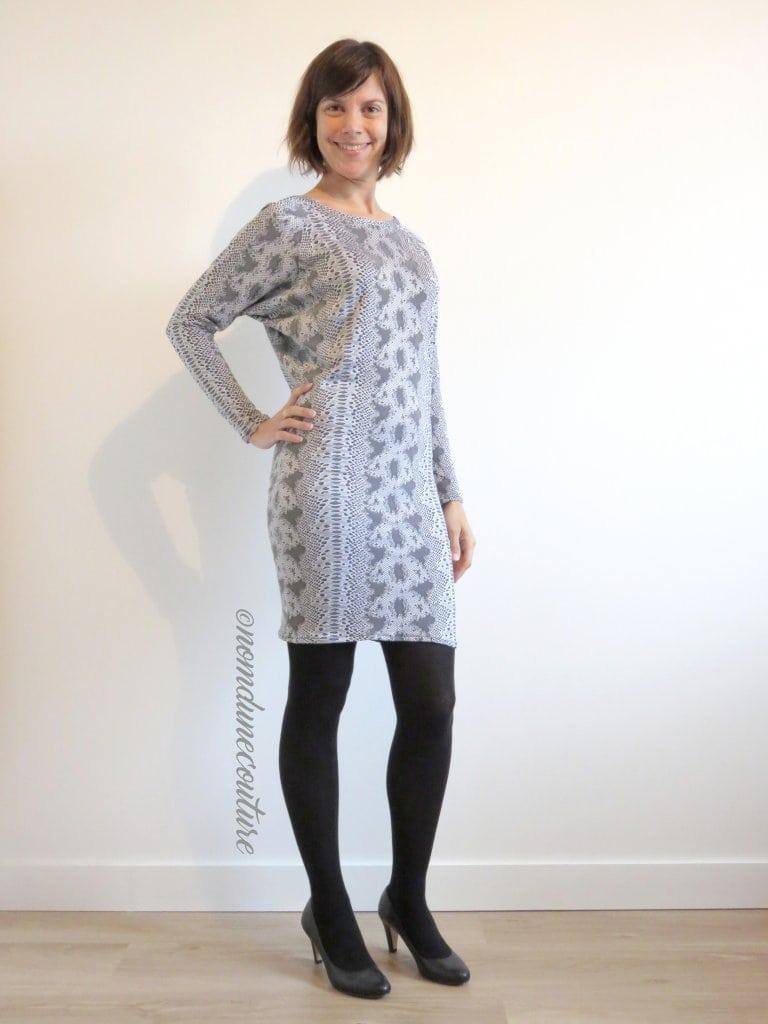 Nom d'une couture ! Robe manches chauves-souris Kommatia patterns DR305