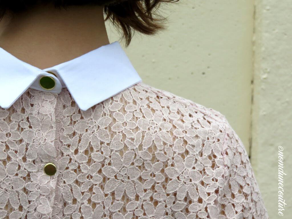 Nom d'une couture ! Top chemisier Juliette dentelle I am patterns