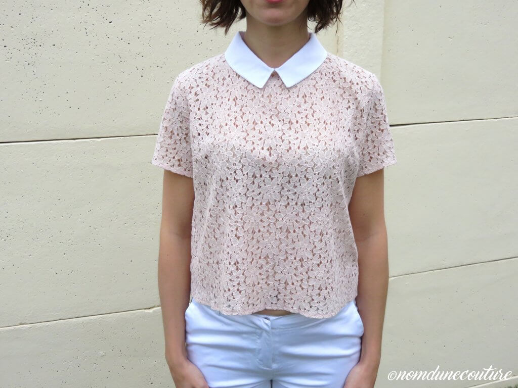 Nom d'une couture ! Top chemisier Juliette dentelle I am patterns