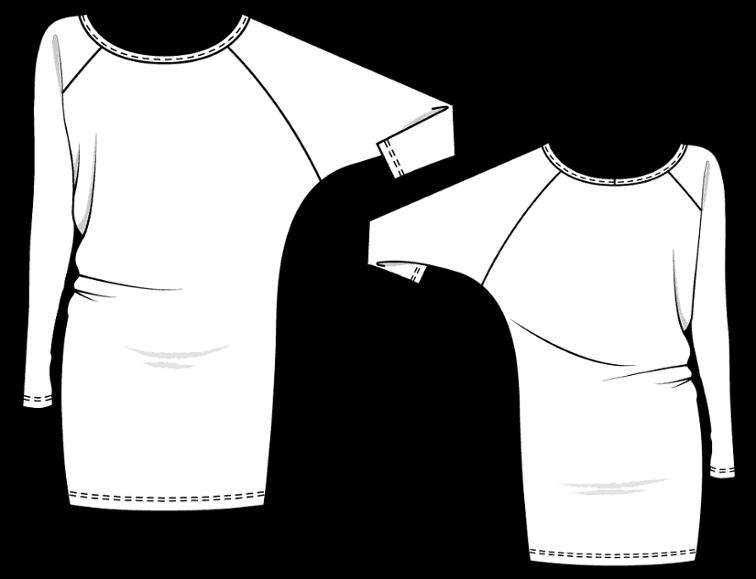 Robe DR305 Kommatia - Robe manche chauve-souris