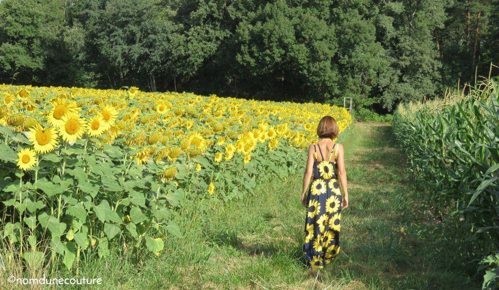 balade dans les champs de dordogne
