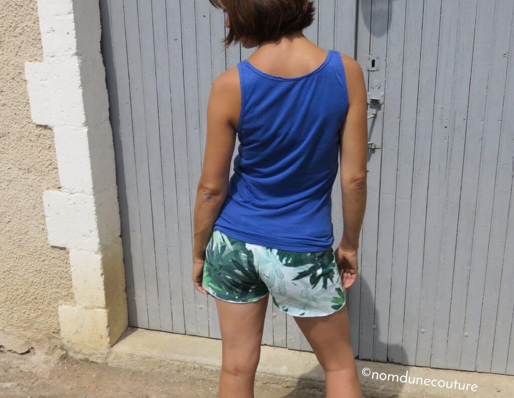 dos du short Anna velours éponge