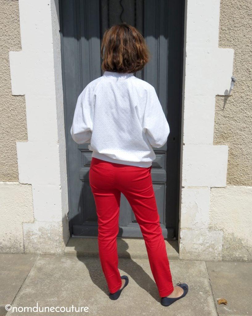 bombers femme et pantalon rouge