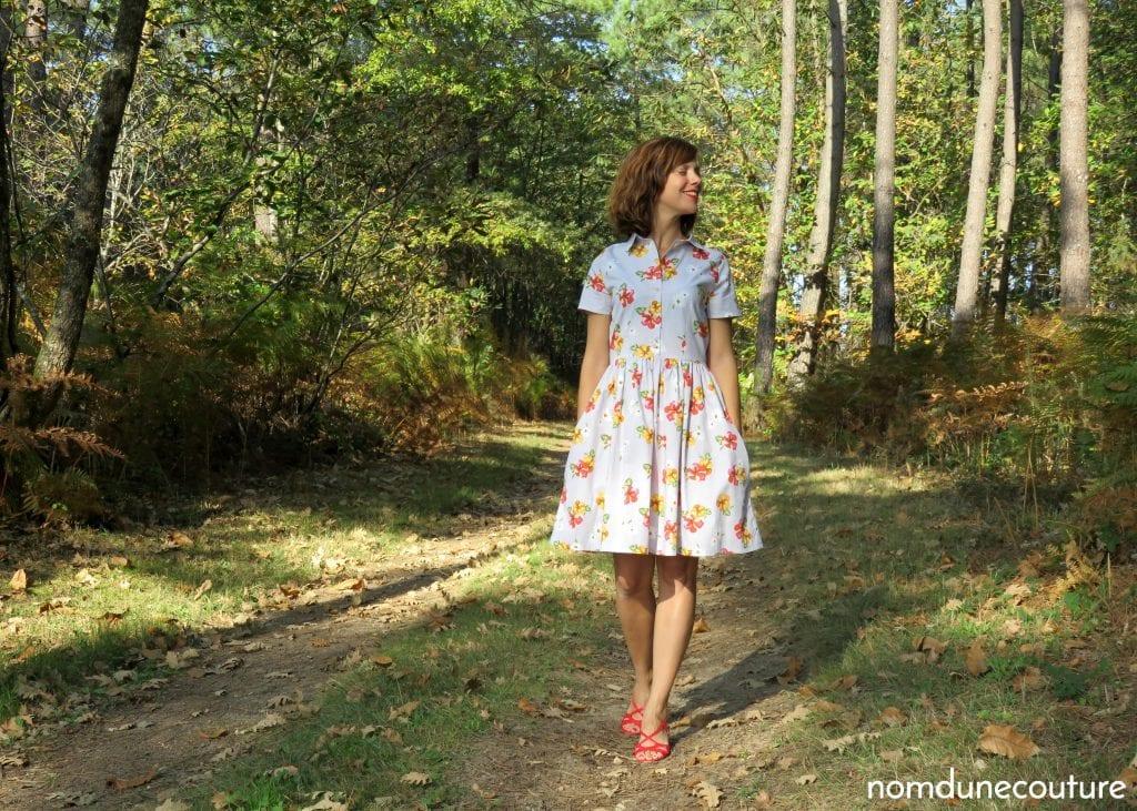 robe cami Pauline Alice patterns avec tissu à fleurs