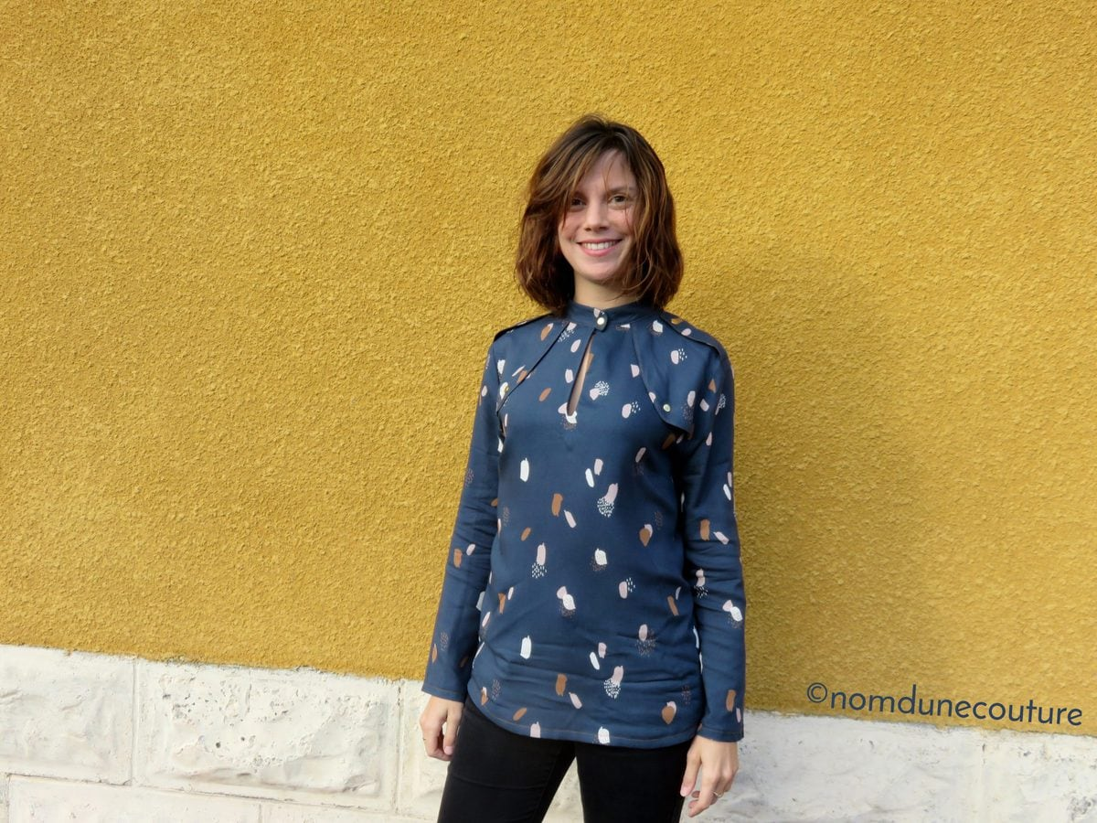 Blouse rocaille en Moonstone Blue