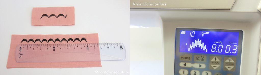 Adapter un point décoratif à une longueur donnée
