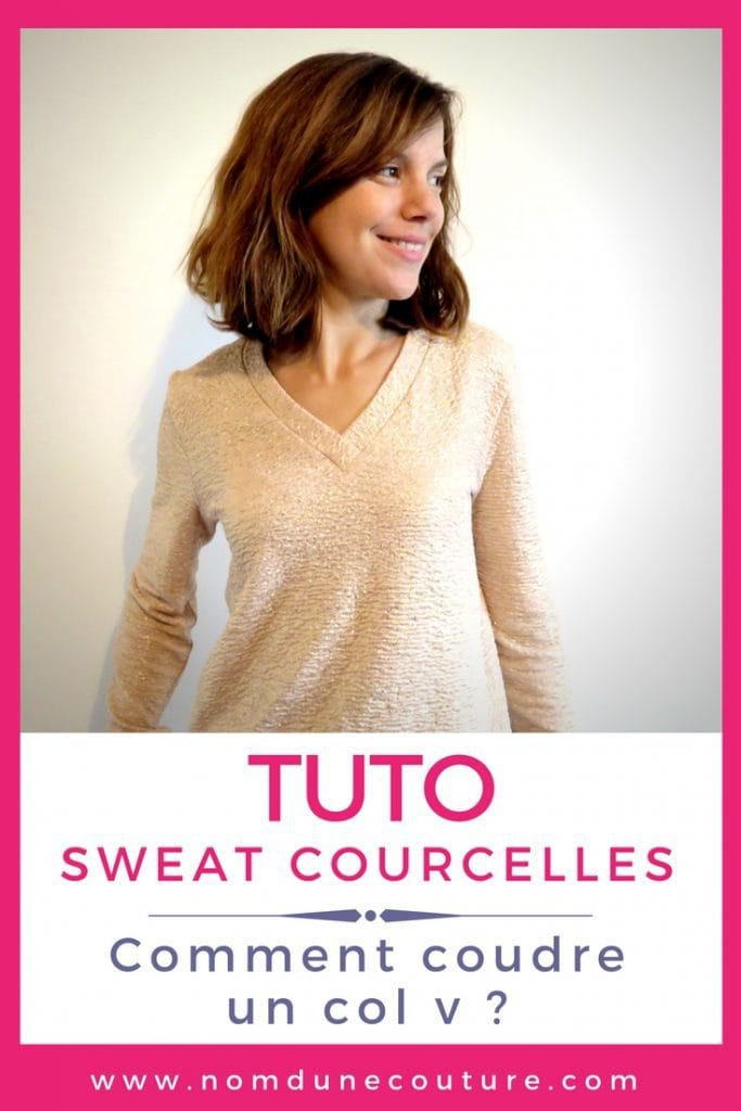 tuto sweat courcelles pinterest comment coudre un col v ?