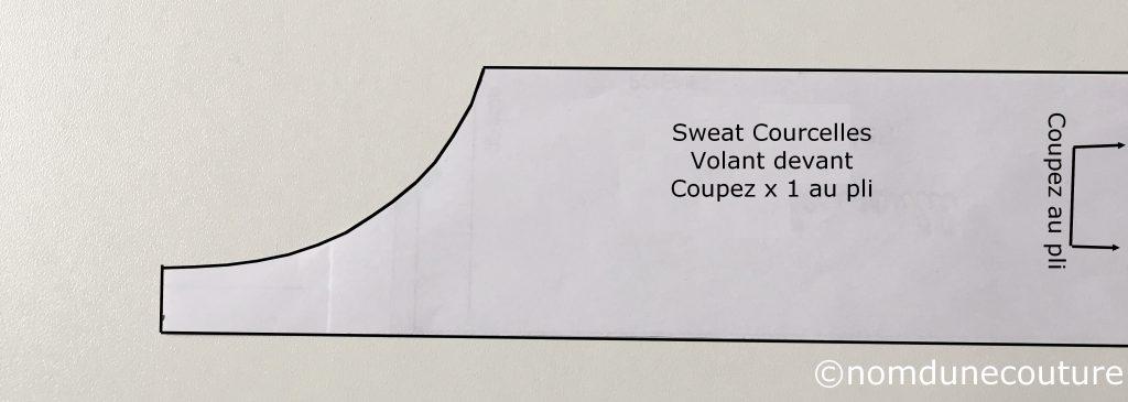 dessiner un volant sur le sweat courcelles