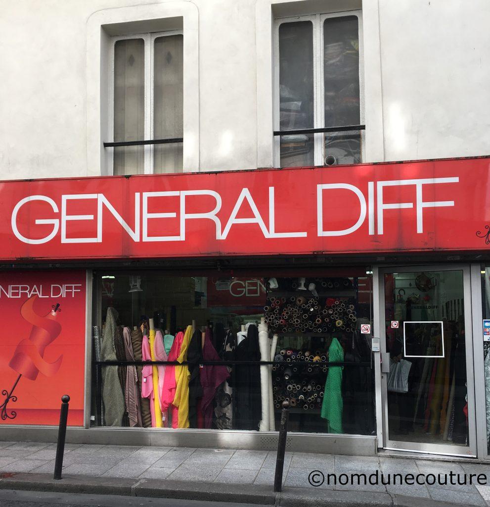 magasin de tissus Général Diff tissus de luxe dégriffé