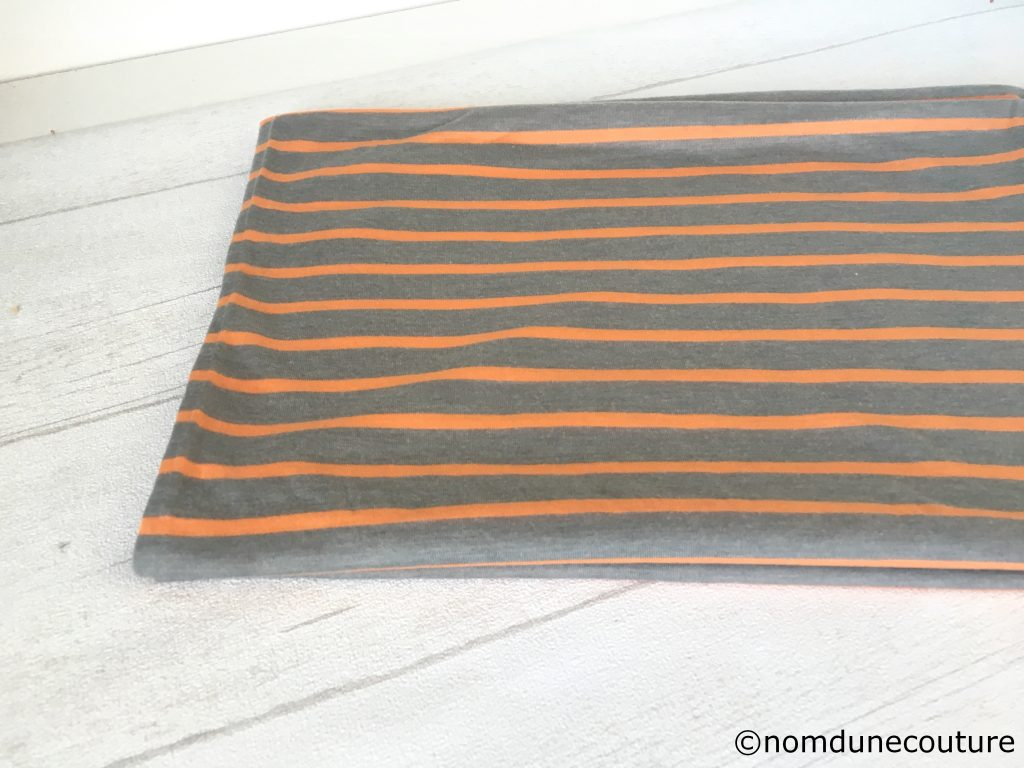 jersey rayé orange et gris tissu marché saint pierre dreyfus