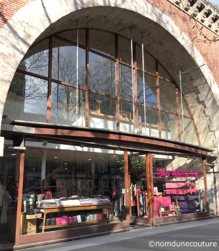 tissus Malhia Kent magasin de destockage à Paris