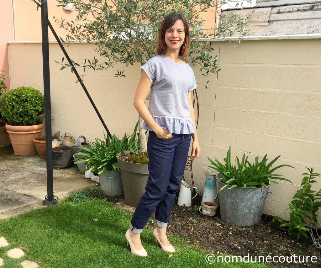 ensemble jean et blouse fait à la main