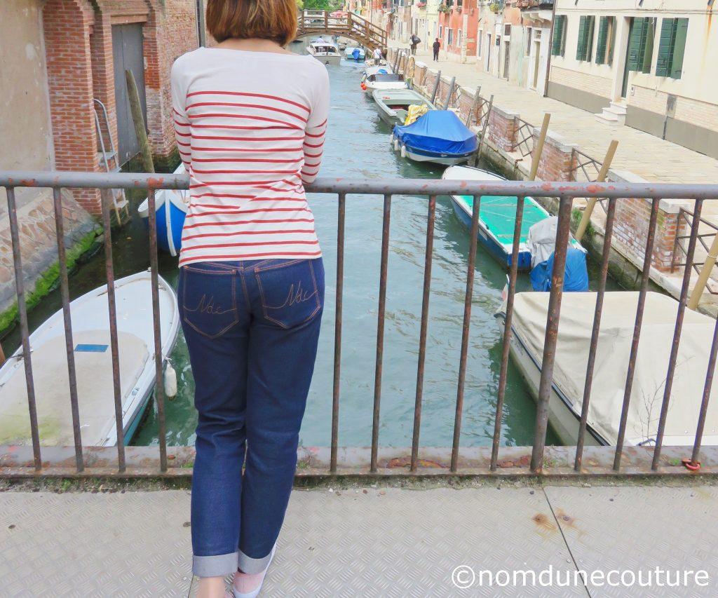 je porte ce que je couds en vacances Venise