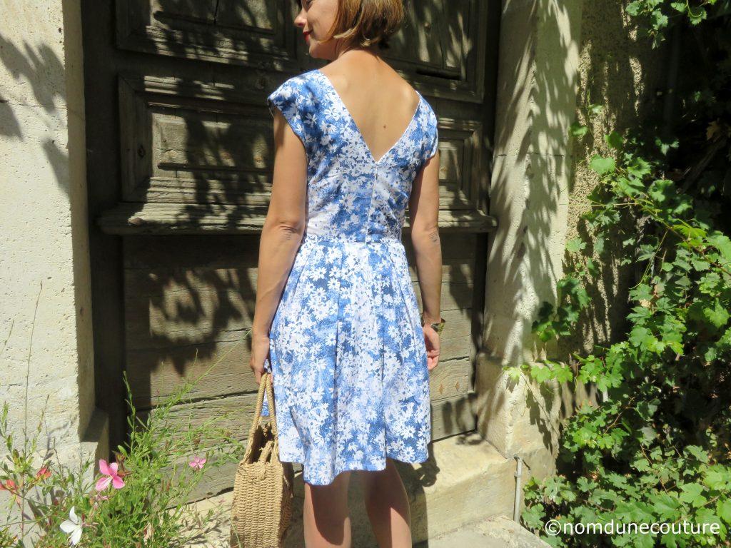 robe décolletée dans le dos andria anne kerdiles couture