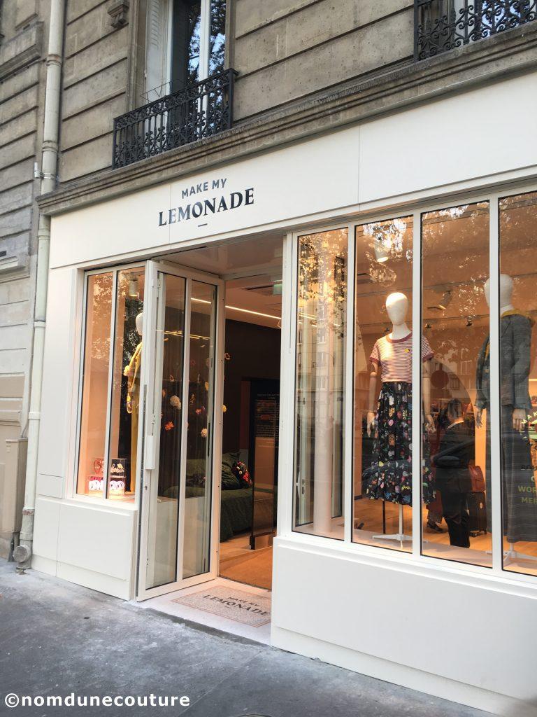 magasin make my lemonade Paris