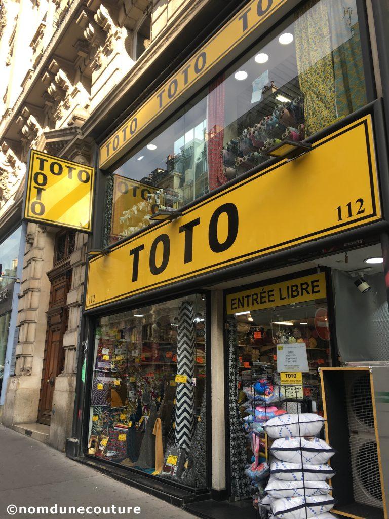 magasin toto tissus rue réaumur à Paris
