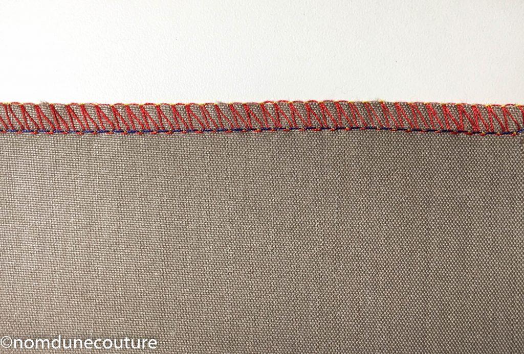 overlock 2 fils enveloppé surjeteuse lidl 1450