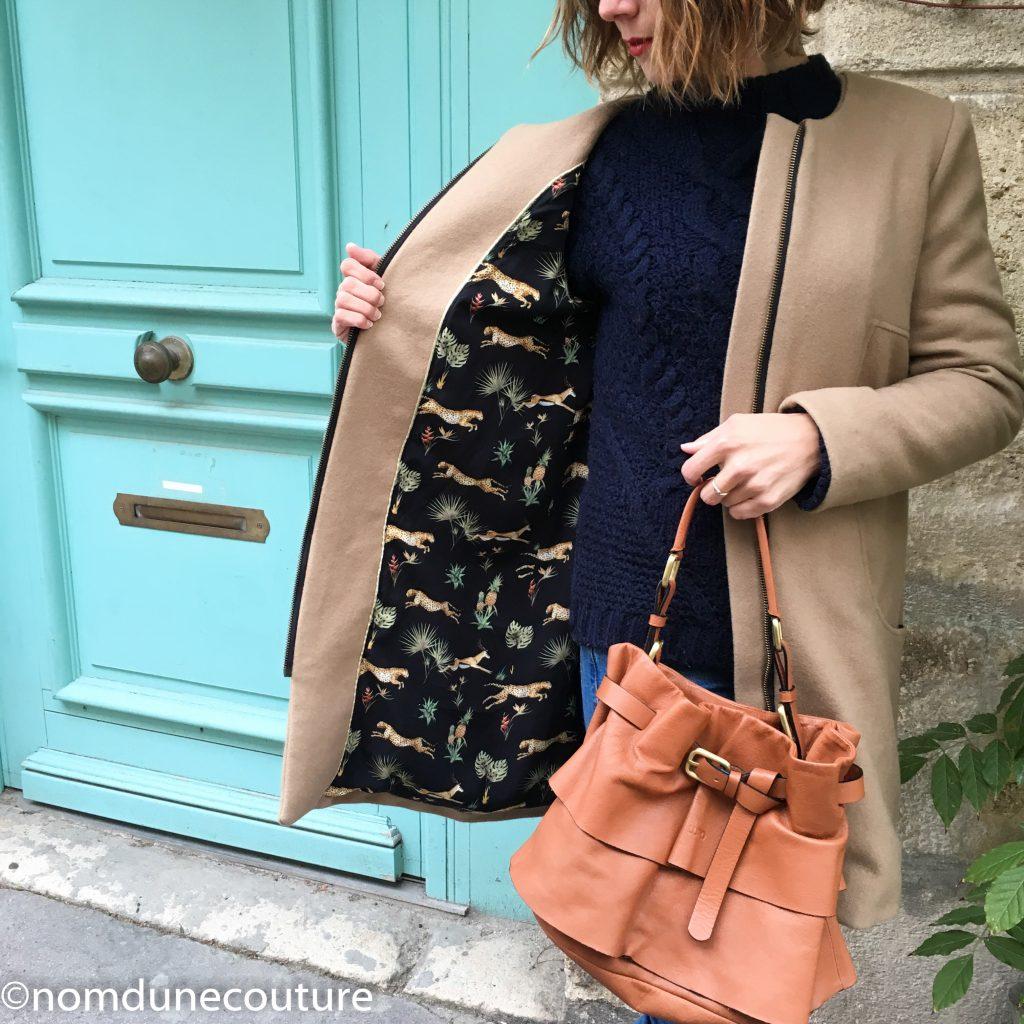 doublure de manteau viscose et sac lupo