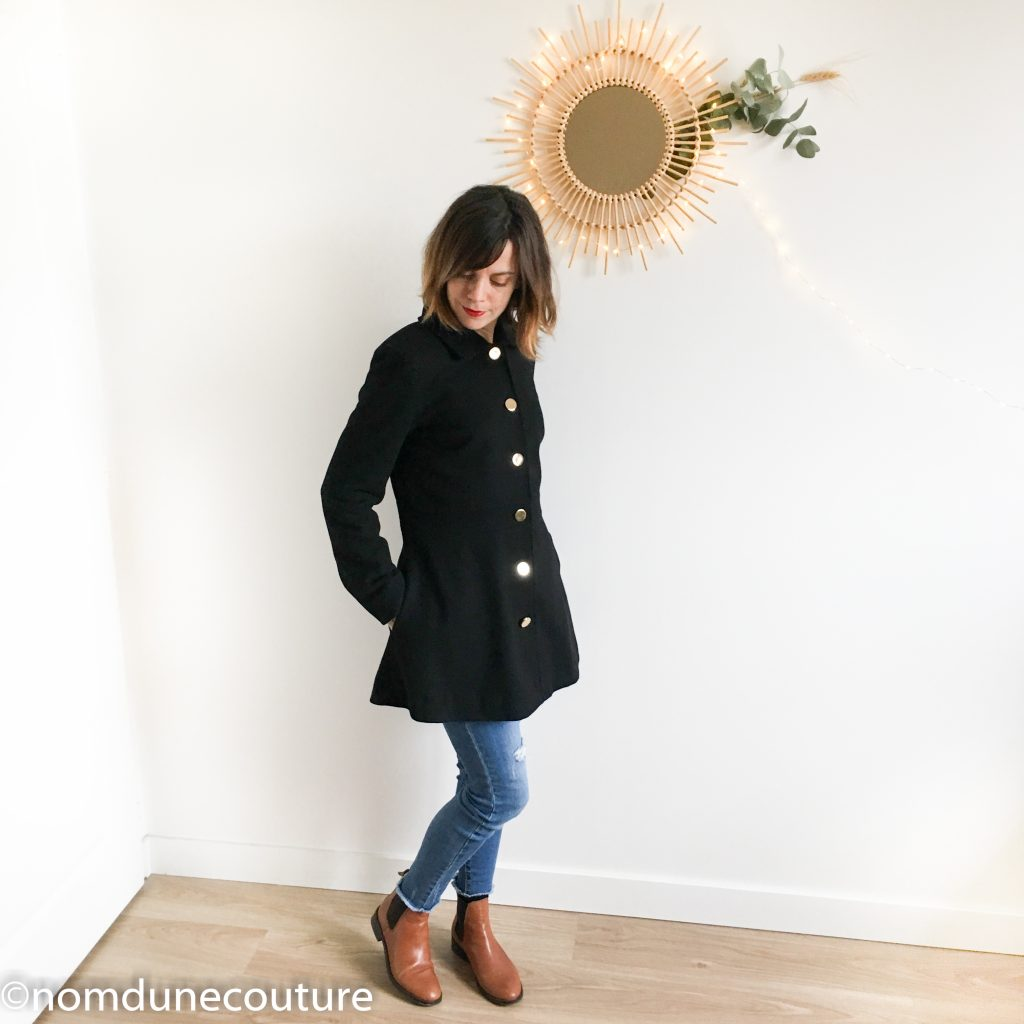 manteau nuage fermé Coralie Bijasson drap de laine Mouna Sew