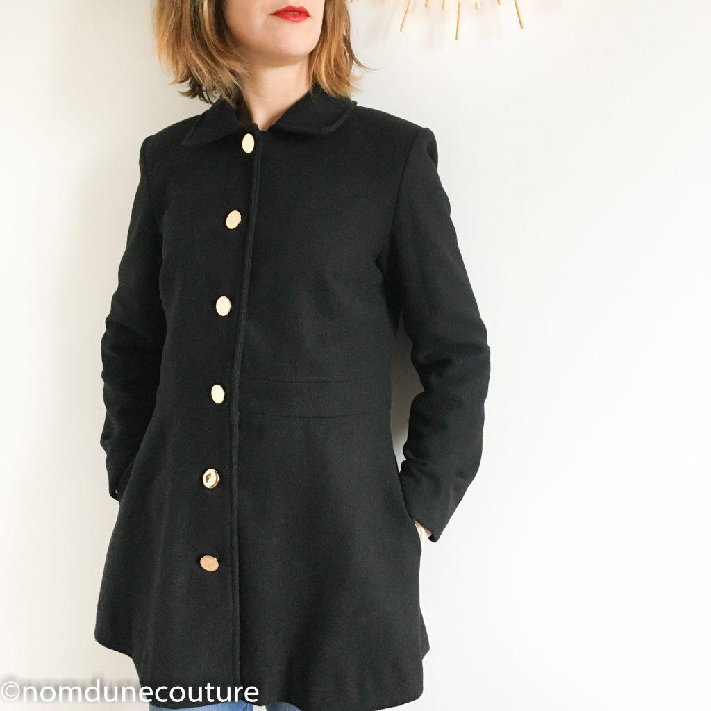 drap de laine noir Mouna Sew manteau nuage