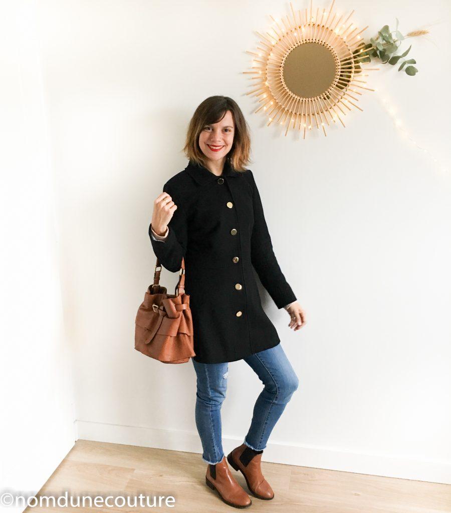 manteau nuage c'est moi le patron Coralie Bijasson boots chelsea camel