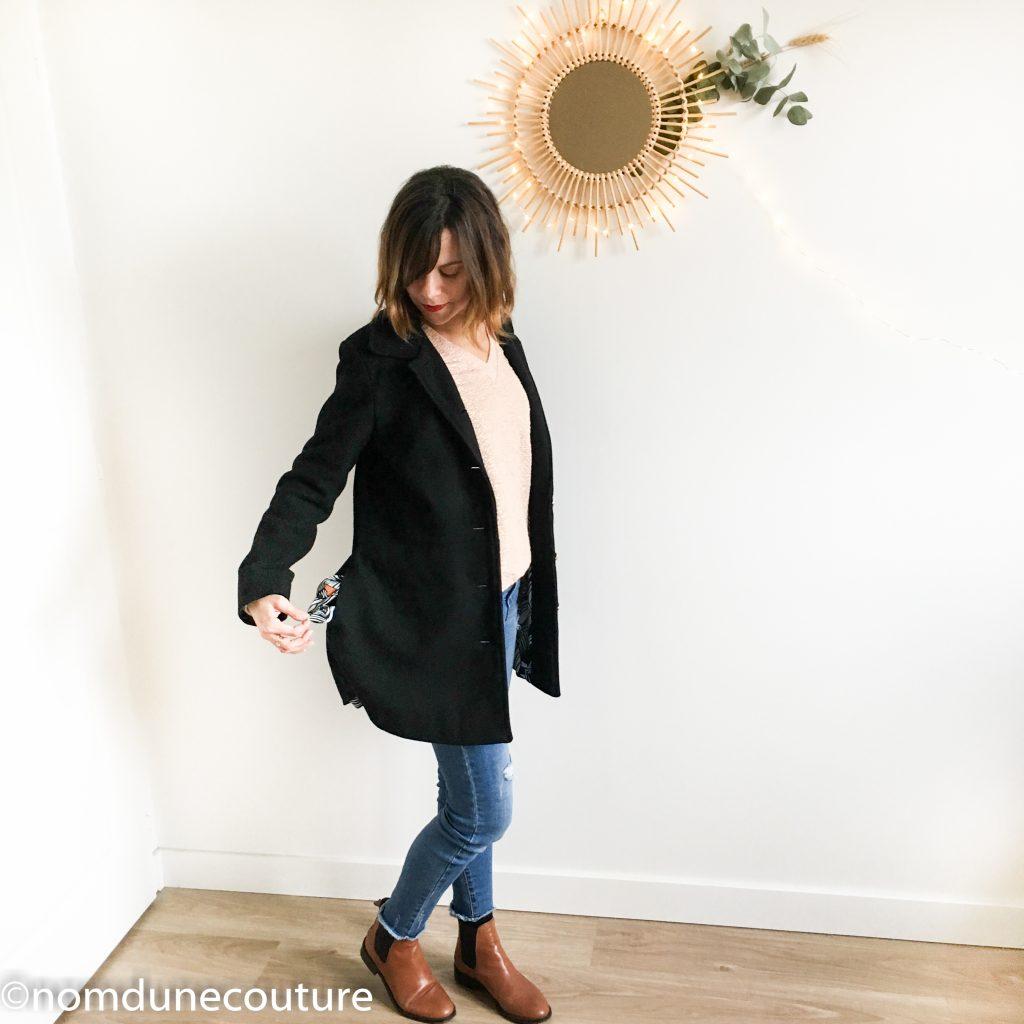 manteau Nuage coralie bijasson drap de laine noir