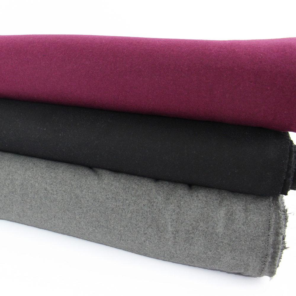 drap de laine noir gris violine