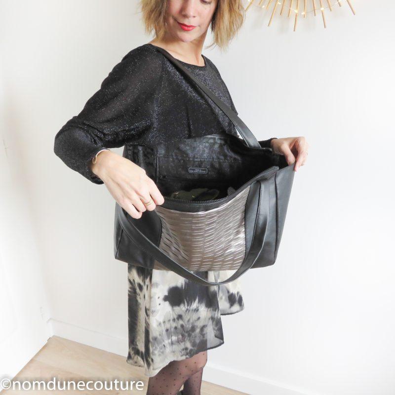 intérieur du sac Emile petit patron couture