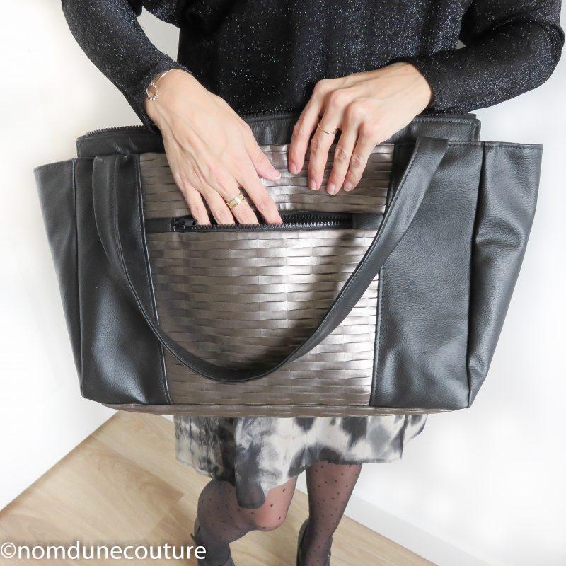 poche extérieur du sac émile petit patron