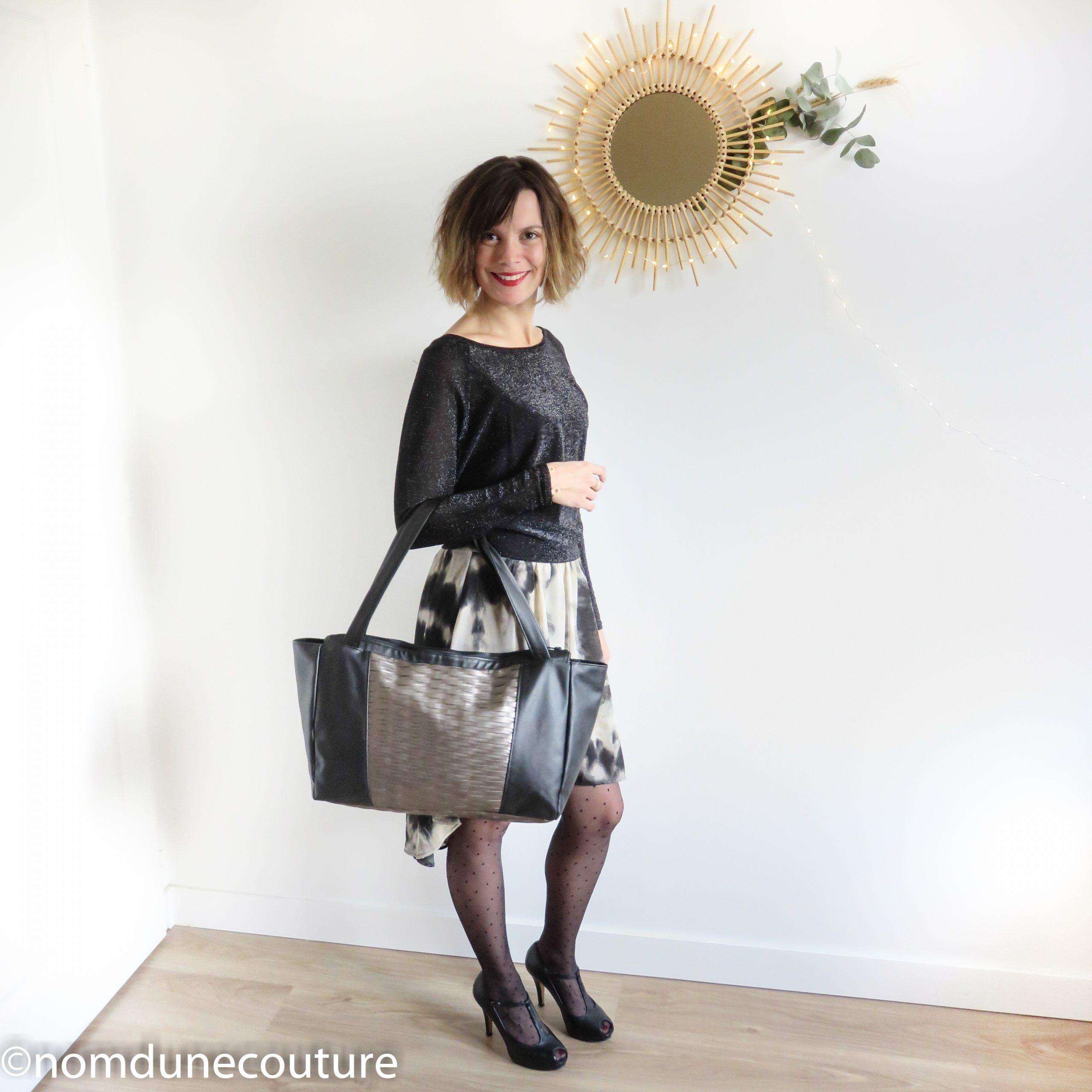 grand sac Emile petit patron couture simili cuir
