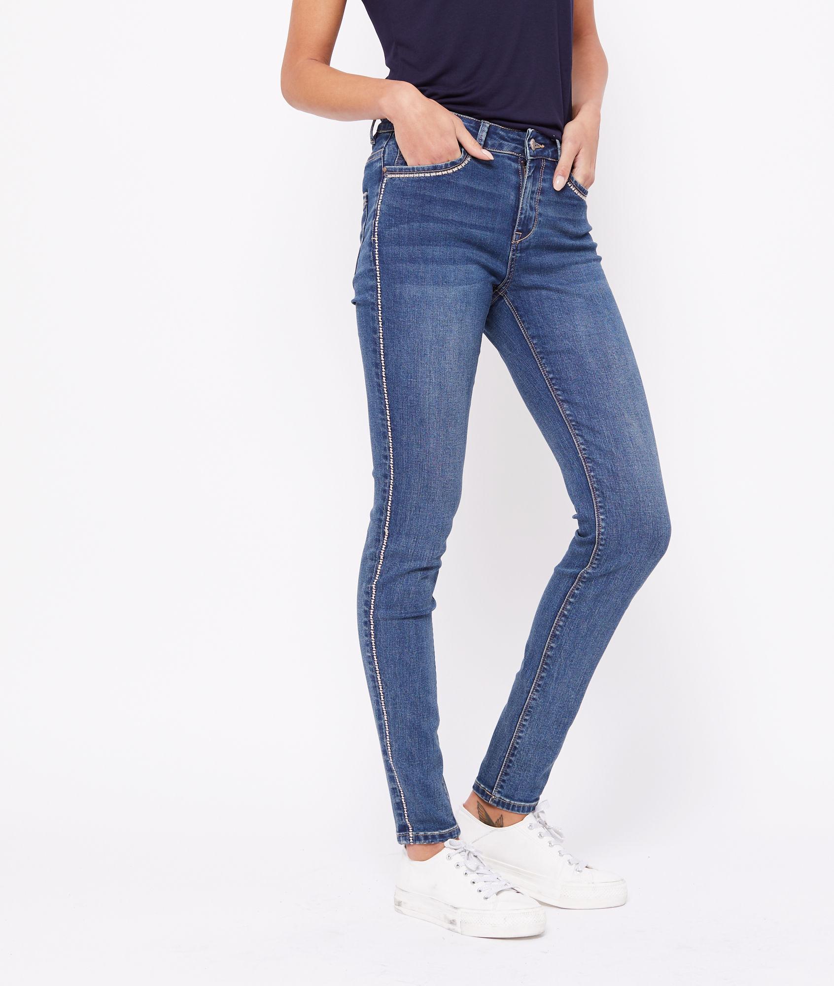 jean taille haute brodé etam