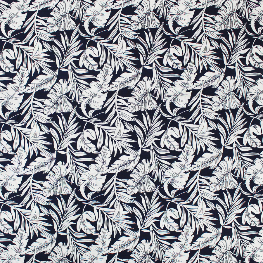 tissu viscose jungle bleu mouna sew