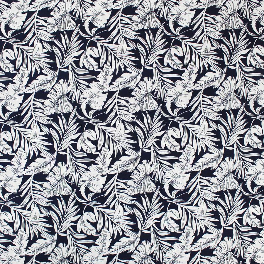 tissu viscose jungle bleu mouna sew