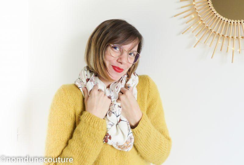 mon foulard tube tout doux tissu toto