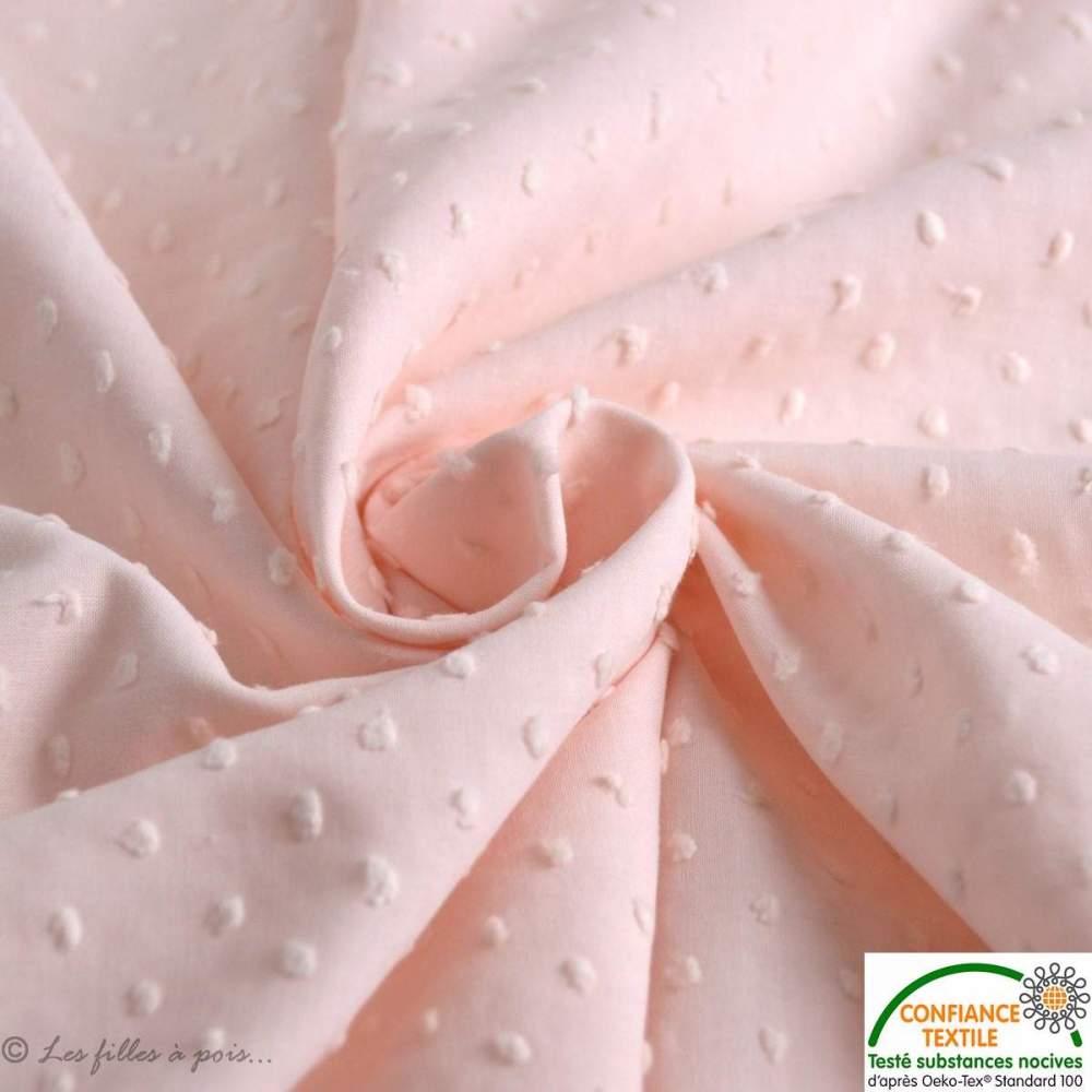 plumetis rose pale